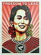 Frank Shepard Fairey (b.1970)Freedom to Lead 2009