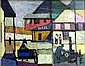 Clyve Brodrick Elliott (1919-1994) Country Town Oil on board