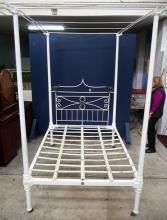 A superb museum quality full tester iron bedstead c. 1860