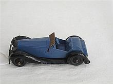 A Dinky Toy No 36E British Salmson two seater sports post war