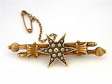 An Australian Bar and Star Brooch
