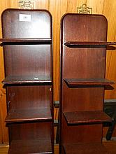 A pair of Oriental rosewood shelves