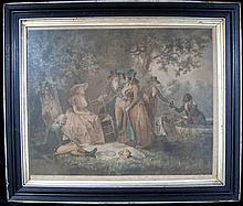 After George Morland, Picnic by the River,