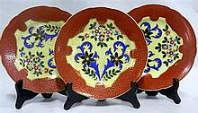 Three Royal Vienna porcelain wall plates 30
