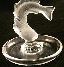 Lalique 'Leaping fish' small bowl