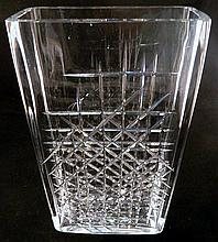 A large Orrefors crystal vase signed and numbered