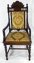 A pair of Edwardian carver chairs
