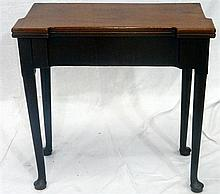 A small proportioned Queen Anne walnut foldover tea table,