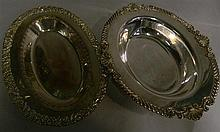 Two silver plated serving dishes, one Hardy Brothers