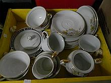 One box of Sundries inc incomplete coffee set.