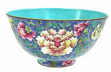 An Enamelled Chinese Bowl, 15cm