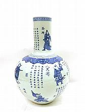 A large Chinese Blue And White Vase, 53cm