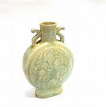 A Chinese Qingbai Moon Flask with Double Handles 27.5cm