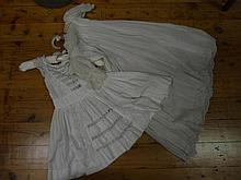 Two cotton christening dresses