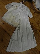 Three christening dresses including one vintage christening gown
