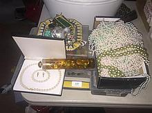 A Large Quantity of Costume Jewellery and Buttons Including Jewellery Making Case
