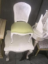 A White Childs Table and Chair
