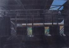 Paul Connor Abandoned Wool Shed, Rowena 1994 Pastel & gouache