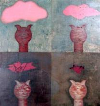 Nador Untitled Pink Clouds Oil on canvas