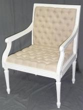 A button back & seat arm chair in the Georgian style