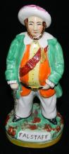 An early ceramic Staffordshire figure of Falstaff