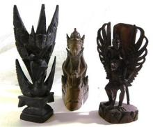 Three South East Asian Wood Carvings