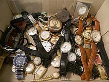 A Collection of Watches including Guess, Enicar, Fila, Ingersoll