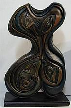 † Artist Unknown  Abstract Form Cast bronze