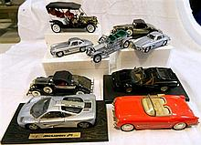 Collection of 10 model cars, incl. 2 x Mercedes Benz 200 SL