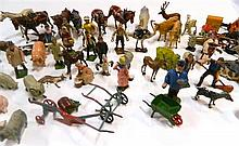 A large quantity of Britain's lead animals and figurines, farmyard accessories