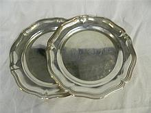 Two German silver-plated serving plates