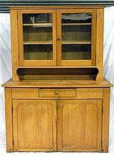 A turn of the century Kauri pine two height dresser