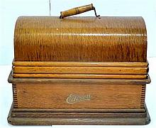 Edison phonograph, home model (with lid)