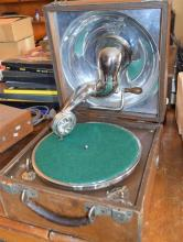 A Decca RD721003 portable gramophone serial number n/a;