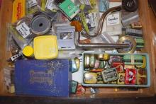 A large selection of gramophone needles and accessories