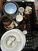 Mixed lot of glass and ceramics including Royal Doulton stoneware and others