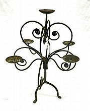 A Cast iron 5 Branch Candelabra