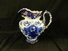 A large Blue and White Ewer (English Moderna)