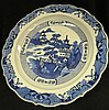 A Fine Large Chinese Blue and White Export Charger