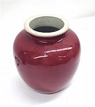 A Chinese Oxblood Style Vase