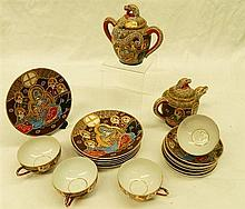 A Japanese Export Ware Part Tea Service