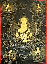 An Asian Thanka on Canvas