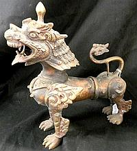 A Bronze Chinese Dragon Figure
