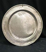 An 18th Century Pewter Charger of Large Size