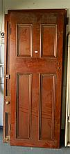 Four assorted cedar doors
