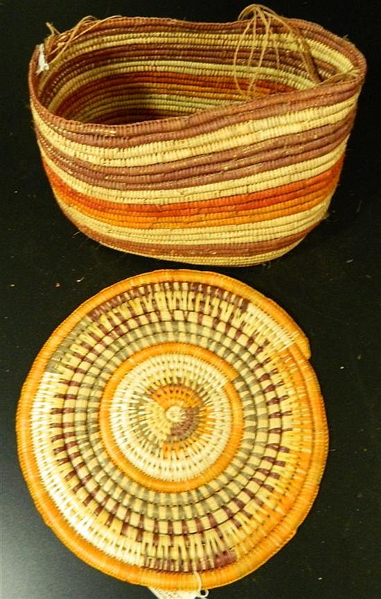 Pandanus Woven Basket and Pandanus Mat, Patsy Volly (2)