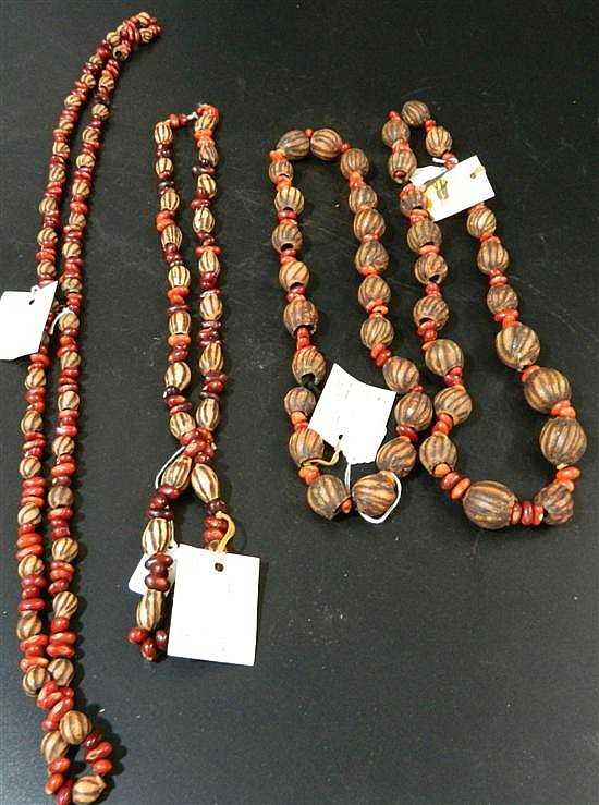Four Seed and Bean Ceremonial Necklaces (4)