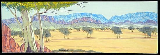 Ivan Pannka (b.143) Hermannsburg Range Watercolour