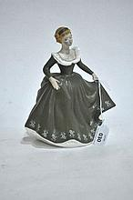 A Royal Doulton figure ornament, Geraldine, 20cm H