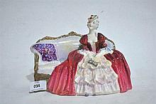 A Royal Doulton figure ornament, Belle of the Ball, 16cm H